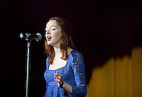NWA Democrat-Gazette/BEN GOFF @NWABENGOFF<br /> Grace Mayes sings on Thursday Sept. 24, 2015 during Talent Night of the Miss Bentonville High School Scholarship Pageant in the school's Arend Arts Center. Evening gown, finals and awards for the pageant will be held at the school on Saturday at 7:00p.m.
