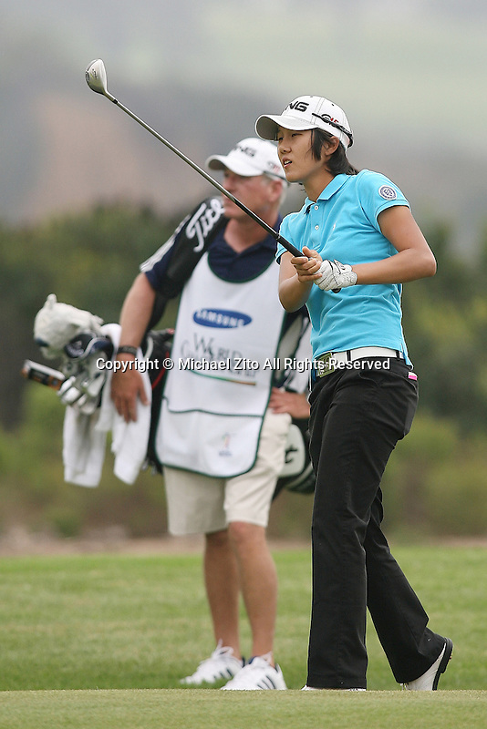 09/18/09 San Diego, CA:  Song-Hee Kim of South Korea during the second round of the LPGA Samsung World Championship held on the South Course of Torrey Pines Golf Course.