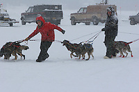 Jr. Iditarod Willow Lake  start / finish Charlie Allison