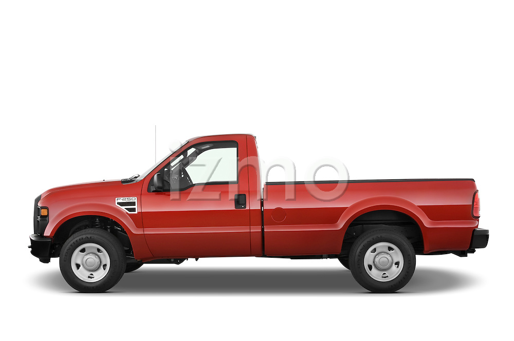 Driver side profile view of a 2008 Ford f250 Regular Cab.