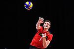 14.09.2019, Paleis 12, BrŸssel / Bruessel<br />Volleyball, Europameisterschaft, Deutschland (GER) vs. Belgien (BEL)<br /><br />Aufschlag / Service Christian Fromm (#1 GER)<br /><br />  Foto © nordphoto / Kurth