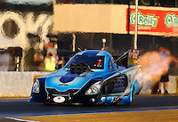 Jul. 26, 2013; Sonoma, CA, USA: NHRA funny car driver Jeff Diehl during qualifying for the Sonoma Nationals at Sonoma Raceway. Mandatory Credit: Mark J. Rebilas-