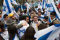 Israel Day in downtown Montreal, April 16, 2013.<br /> <br /> Photo : Agence Quebec Presse - Jules Marchetti