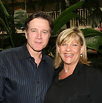 "Guiding Light's Frank Dicopoulos ""Frank Cooper"" poses with costar Kim Zimmer ""Reva"" at the Young Women's Breast Cancer Foundation event - Reach to Recovery - ""Spring into Shape!"" Luncheon and Fashion Show on April 6, 2008 at Embassy Suites, Coraopolis, Pennsylvania. The event also included a Chinese Auction and an autograph session with the Guiding Light actors. (Photo by Sue Coflin/Max Photos)"