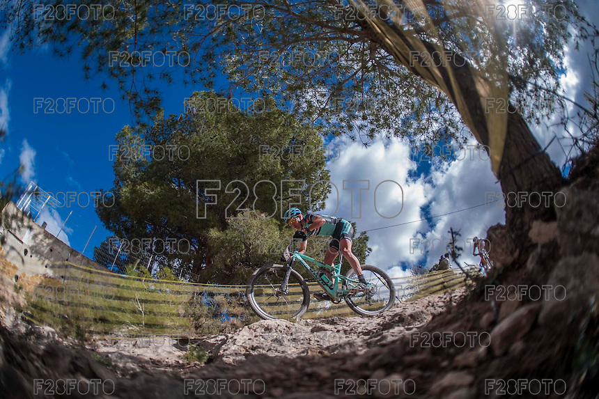 Chelva, SPAIN - MARCH 6: Gerhard Kerschbaumer during Spanish Open BTT XCO on March 6, 2016 in Chelva, Spain