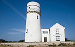 White historic lighthouse Hunstanton, Norfolk, England