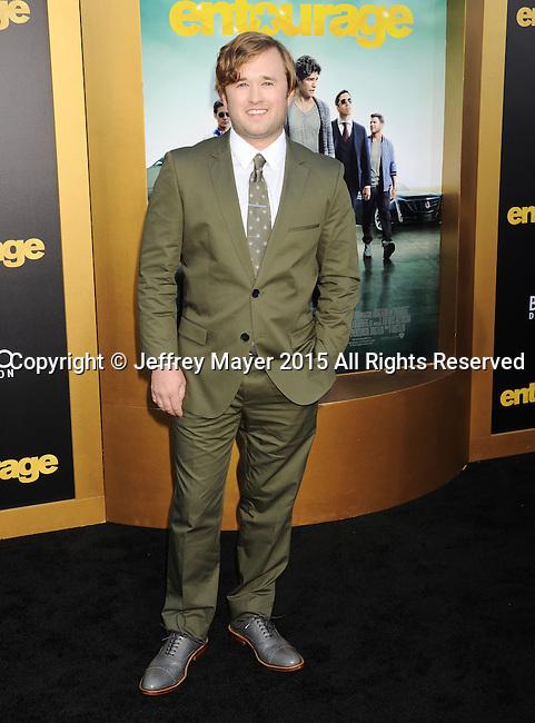 WESTWOOD, CA - JUNE 01: Actor Haley Joel Osment arrives at the 'Entourage' - Los Angeles Premiere at Regency Village Theatre on June 1, 2015 in Westwood, California.