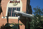 CAR FLOATS OUTSIDE HARD ROCK CAFE
