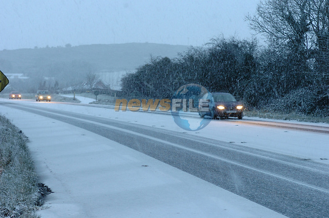 Snow on Tullyesker on Tuesday Morning.Pic Fran Caffrey/Newsfile