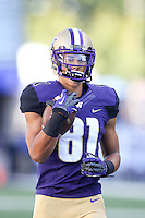 Sept 20, 2014:  Washington's Brayden Lenius against Georgia State.  Washington defeated Georgia State 45-14 at Husky Stadium in Seattle, WA.