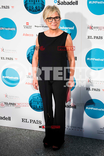 Ines Ballester attends to the photocall of the Rod Stewart concert at Teatro Real in Madrid. July 05. 2016. (ALTERPHOTOS/Borja B.Hojas)