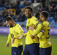 Blackburn Rovers' Joe Nuttall celebrates scoring his side's first goal <br /> <br /> Photographer Rob Newell/CameraSport<br /> <br /> The EFL Sky Bet Championship - Millwall v Blackburn Rovers - Saturday 12th January 2019 - The Den - London<br /> <br /> World Copyright &copy; 2019 CameraSport. All rights reserved. 43 Linden Ave. Countesthorpe. Leicester. England. LE8 5PG - Tel: +44 (0) 116 277 4147 - admin@camerasport.com - www.camerasport.com