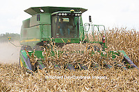 63801-07102 Farmer harvesting corn, Marion Co., IL
