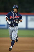 Kurt Suzuki of the Cal State Fullerton Titans runs the bases during a 2004 season game at Goodwin Field in Fullerton, California. (Larry Goren/Four Seam Images)
