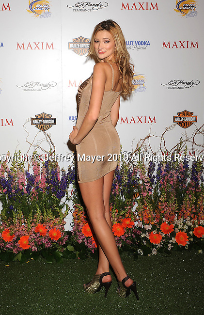 LOS ANGELES, CA. - May 19: Kylie Bisutti  arrives at the 11th Annual MAXIM HOT 100 Party at Paramount Studios on May 19, 2010 in Los Angeles, California.