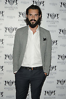 Bobby Sabel.attended the Kensington Club new boutique nightclub launch party, The Kensington Club, High Street Kensington, London, England,.20th July 2012..half length grey gray jacket white shirt jeans beard facial hair  hands in pockets .CAP/CAN.©Can Nguyen/Capital Pictures.
