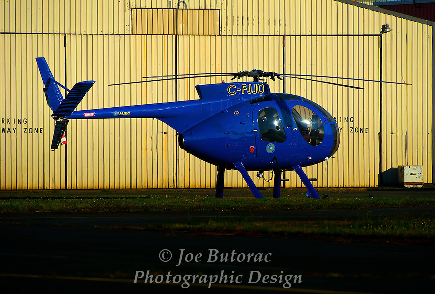Hunter Helicopters Inc.  Hughes 369H C-FJJO Langley Regional Airport CYNJ Langley B.C.