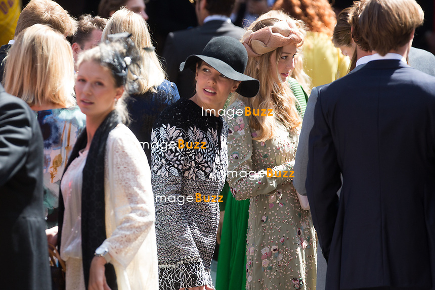 Mariage du Prince Ernst junior de Hanovre et de Ekaterina Malysheva &agrave; l'&eacute;glise Markkirche &agrave; Hanovre.<br /> Allemagne, Hanovre, 8 juillet 2017.<br /> Wedding of Prince Ernst Junior of Hanover and Ekaterina Malysheva at the Markkirche church in Hanover.<br /> Germany, Hanover, 8 july 2017<br /> Pic :  Princess Charlotte Casiraghi &amp; Beatrice Borromeo