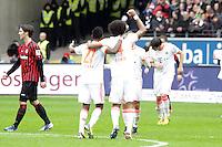 Bayern jubeln ueber die Meisterschaft