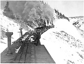 Rotary snowplow pushed by 4 engines.<br /> D&amp;RGW