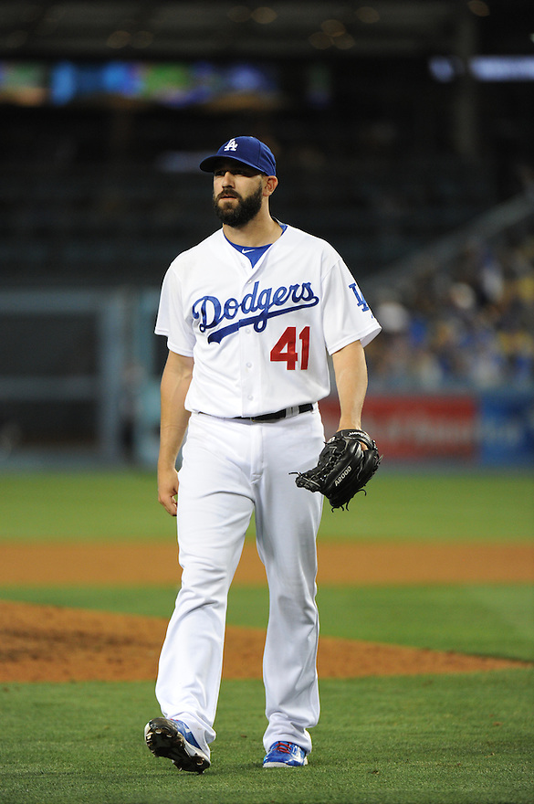 Los Angeles Dodgers vs Seattle Mariners Tuesday, April 14, 2015 at Dodger Stadium in Los Angeles,California. The Dodgers beat the Mariners 6-5. Photo by Jon SooHoo/©Los Angeles Dodgers,LLC 2015