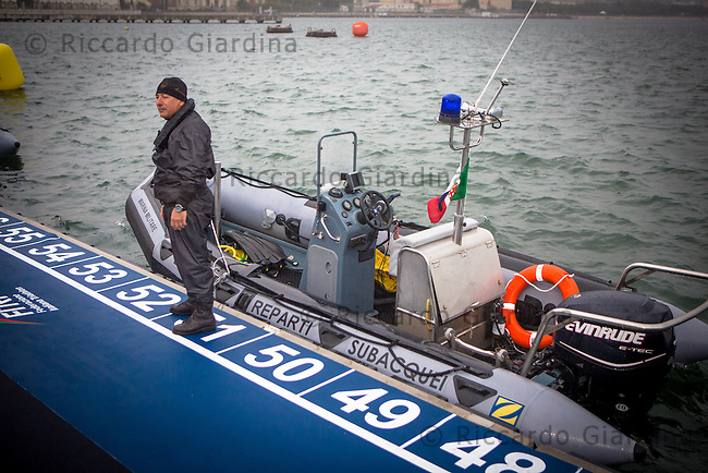 08/05/2016 - Marina Militare, Comsubin - Rescue Staff at 2016 Cagliari ITU Triathlon World Cup -