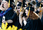 Graduates take photos as they turn their tassels during the 2019 commencement ceremony for Western Nevada College, in Carson City, Nev., on Monday, May 20, 2019. <br /> Photo by Cathleen Allison/Nevada Momentum