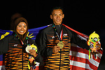 Malaysia team group (MAS), <br /> AUGUST 31, 2018 - Sailing : Mixed RS-One Victory ceremony at Indonesia National Sailing Center during the 2018 Jakarta Palembang Asian Games in Jakarta, Indonesia. <br /> (Photo by MATSUO.K/AFLO SPORT)
