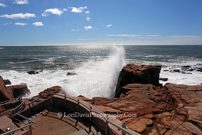 Crashing Waves at Thunder Hole, Acadia  #A45