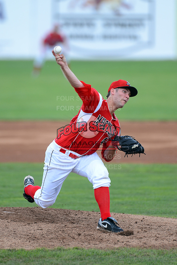 Batavia Muckdogs pitcher Trevor Williams #46 during a game against the State College Spikes on June 30, 2013 at Dwyer Stadium in Batavia, New York.  State College defeated Batavia 7-2.  (Mike Janes/Four Seam Images)