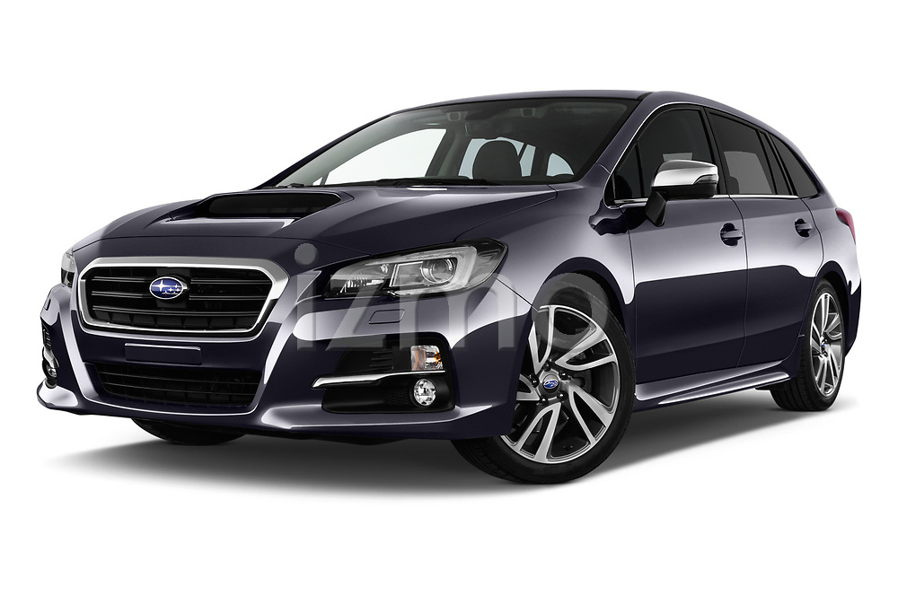 Stock pictures of low aggressive front three quarter view of a 2017 Subaru Levorg GT-S Premium 5 Door Wagon