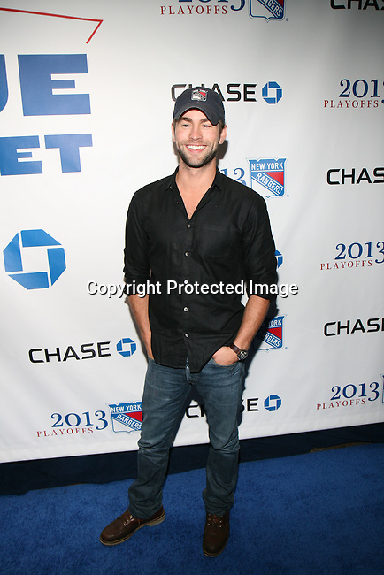Gossip Girl Actor Chace Crawford Attends NEW YORK Rangers ROLL OUT THE<br />