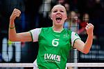 03.12.2017, Halle Berg Fidel, Muenster<br />Volleyball, Bundesliga Frauen, Normalrunde, USC MŸnster / Muenster vs. Rote Raben Vilsbiburg<br /><br />Jubel Roosa Laakkonen (#6 Muenster)<br /><br />  Foto &copy; nordphoto / Kurth
