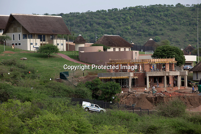 NKANDLA, SOUTH AFRICA - OCTOBER 10: A police vehicle patrols the newly constructed home for  South Africa president Jacob Zuma's in his birth village on October 10, 2012 in KwaNxamalala, Nkandla. South Africa.  The South African government is spending R240-million (about US$ 27 million) to construct the vast property for his large family. (Photo by Per-Anders Pettersson)