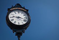 A E. Howard & Co street clock is seen in the Greenpoint neighborhood of New York City borough of Brooklyn, NY, Monday August 1, 2011. The E. Howard & Co. clock and watch company was formed by Edward Howard and Charles Rice in 1858 after the demise of the Boston Watch Company.