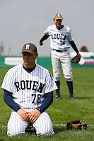 12 Aug 2007: Giovanni Ouin rests prior to the game 5 of the french championship finals between Templiers (Senart) and Huskies (Rouen) in Chartres, France. Huskies defeated Templiers 9-8 to win their fourth french championship.