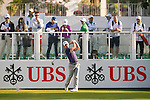 Chris Paisley of England tees off the first hole during the 58th UBS Hong Kong Golf Open as part of the European Tour on 10 December 2016, at the Hong Kong Golf Club, Fanling, Hong Kong, China. Photo by Marcio Rodrigo Machado / Power Sport Images