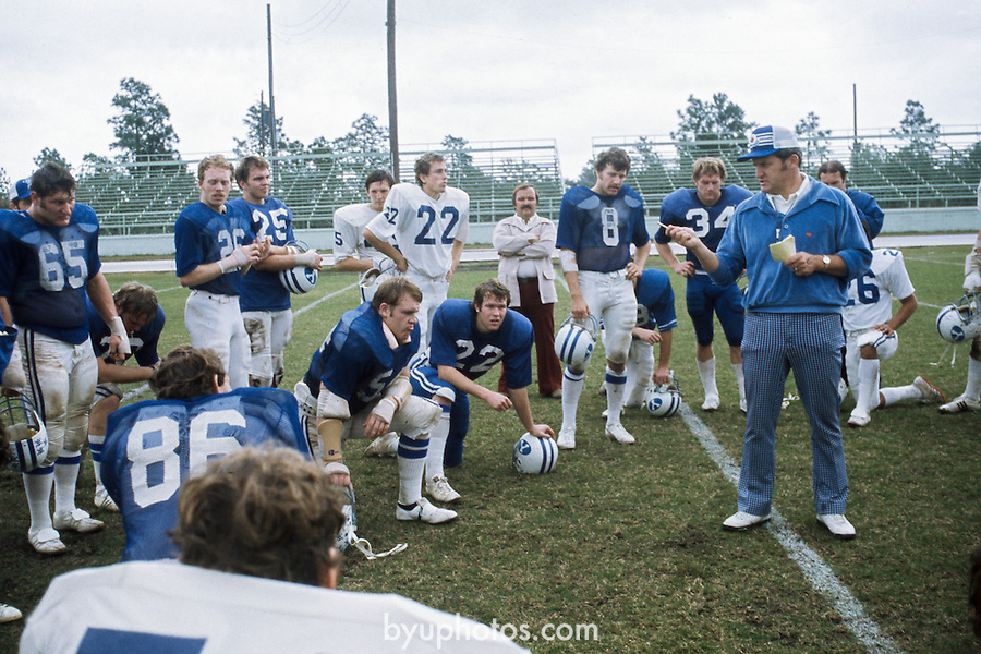 76 - Lavell w team<br /> <br /> FTB Slides 1967-75<br /> <br /> FTB 1976<br /> <br /> January 4, 2017<br /> <br /> Photography by Mark Philbrick/BYU<br /> <br /> Copyright 2016 BYU Photo<br /> All Rights Reserved<br /> (801)422-7322