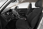 Front seat view of a 2014 KIA CARENS Lounge 5 Door Mini MPV 2WD Front Seat car photos