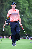 Rory McIlroy (IRL) after sinking his par putt on 18 during round 3 of the World Golf Championships, Mexico, Club De Golf Chapultepec, Mexico City, Mexico. 3/4/2017.<br /> Picture: Golffile | Ken Murray<br /> <br /> <br /> All photo usage must carry mandatory copyright credit (&copy; Golffile | Ken Murray)