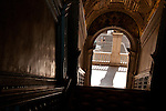 Looking down a stairway in the Doge's Palace in Venice, Italy