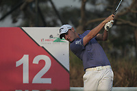 Emiliano Grillo (ARG) in action on the 12th during Round 2 of the Hero Indian Open at the DLF Golf and Country Club on Friday 9th March 2018.<br /> Picture:  Thos Caffrey / www.golffile.ie<br /> <br /> All photo usage must carry mandatory copyright credit (&copy; Golffile | Thos Caffrey)