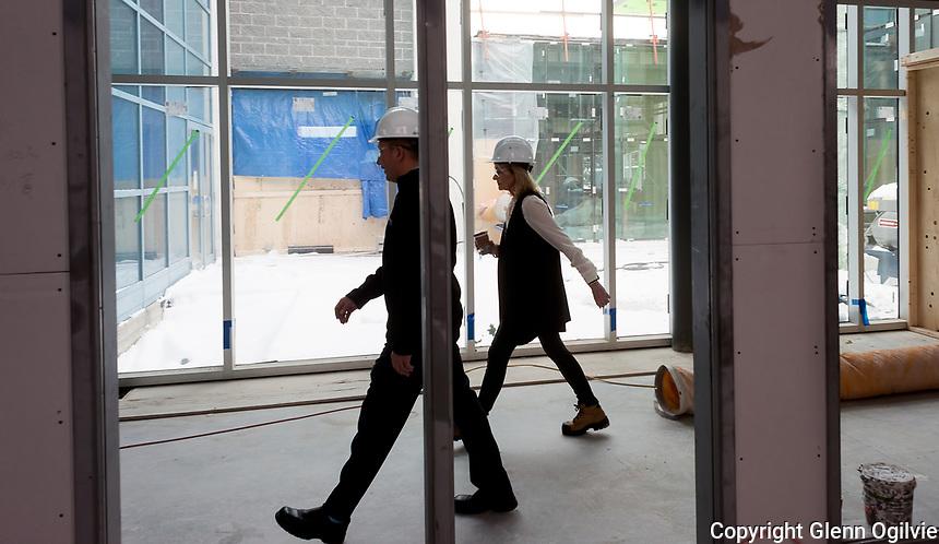 Lambton College construction project media tour