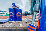 29 April 2017: New York Mets On-Deck Gear lies ready on the dugout steps prior to a game against the Washington Nationals at Nationals Park in Washington, DC. The Mets defeated the Nationals 5-3 to take the second game of their 3-game weekend series. Mandatory Credit: Ed Wolfstein Photo *** RAW (NEF) Image File Available ***