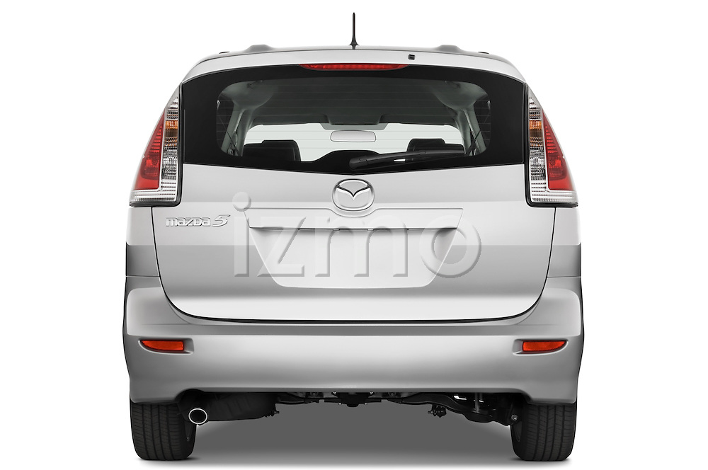 Straight rear view of a 2008 Mazda 5