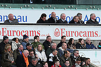 The FA chairman Greg Dyke and FIFA President Gianni Infantino watch from the stands during the Barclays Premier League match between Swansea City and Norwich City played at The Liberty Stadium, Swansea on March 5th 2016