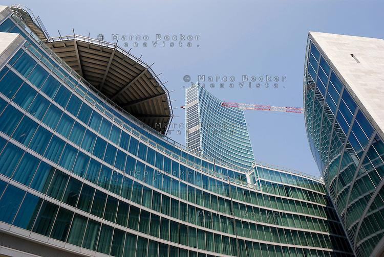 milano, il nuovo grattacielo sede della regione lombardia --- milan, the new skyscraper headquarter of Lombardy Region authority