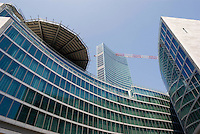milano, il nuovo grattacielo sede della regione lombardia --- milan, the new skyscraper headquarter of Lombardy Region authority