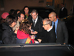 *** EXCLUSIVE Coverage ***.Woody Allen performing with his Band The New York Jazz Ensemble at the TEATRO SISTINA in  Rome, Italy..The Concert was an AIDS Benefit which raised over .50,000 euros..Seen here leaving the theatre signing autographs for his fans..December 12, 2004.© Walter McBride /
