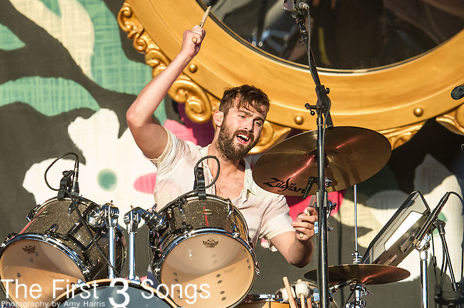 Chris Tomson of Vampire Weekend performs during Day 3 of the 2013 Firefly Music Festival in Dover, Delaware.
